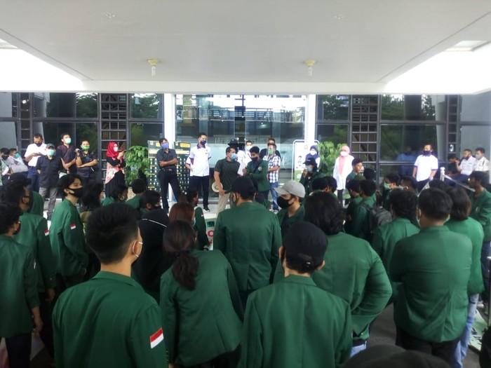 Demonstrasi di USU (Datuk Haris-detikcom)