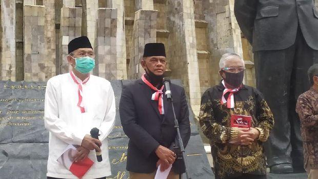 Gatot Nurmantyo menghadiri deklarasi Koalisi Aksi Menyelamatkan Indonesia (KAMI), di Tugu Proklamasi, Jakarta, Selasa (18/8/2020).