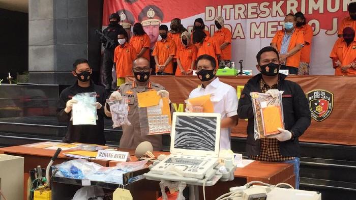 Polisi rilis kasus aborsi ilegal di Senan, Jakpus