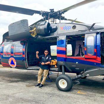Salah Satu Helikopter yang Disewa BNPB untuk Penanganan Bencana di Tanah Air