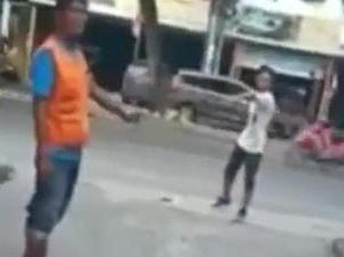 Screenshot viral pria di Medan marah-marah soal uang parkir