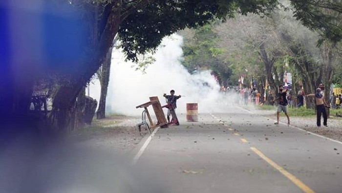 Tawuran antar warga di Kota Palopo (dok. Istimewa).