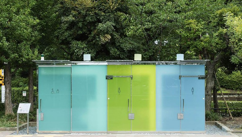 Toilet umum transparan di Shibuya