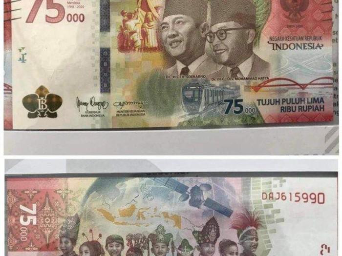 Uang baru pecahan Rp 75 ribu (dok. Istimewa)