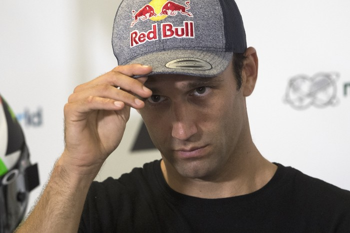SPIELBERG, AUSTRIA - AUGUST 13: Johann Zarco of France and Reale Avintia Racing looks on during the press conference pre-event during the MotoGP Of Austria - Previews at Red Bull Ring on August 13, 2020 in Spielberg, Austria. (Photo by Mirco Lazzari gp/Getty Images)