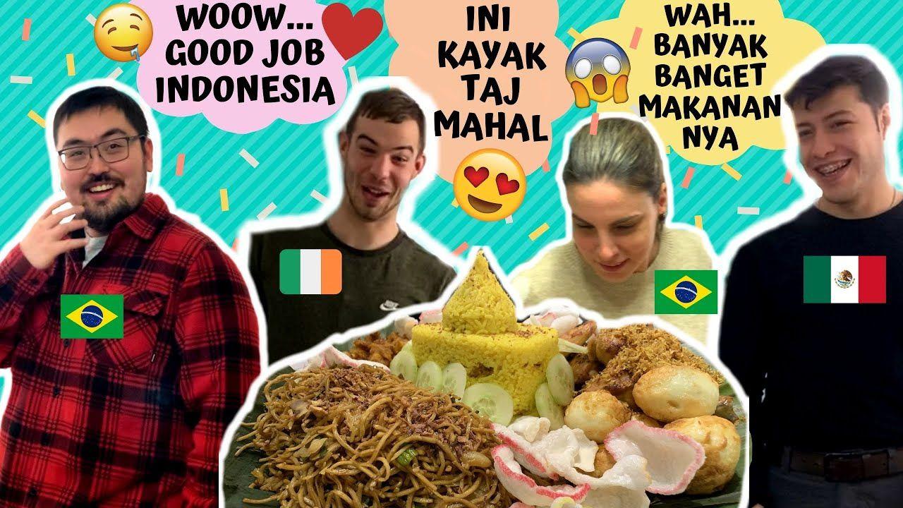 5 Momen Bule Ketagihan Nikmatnya Nasi Padang hingga Nasi Tumpeng