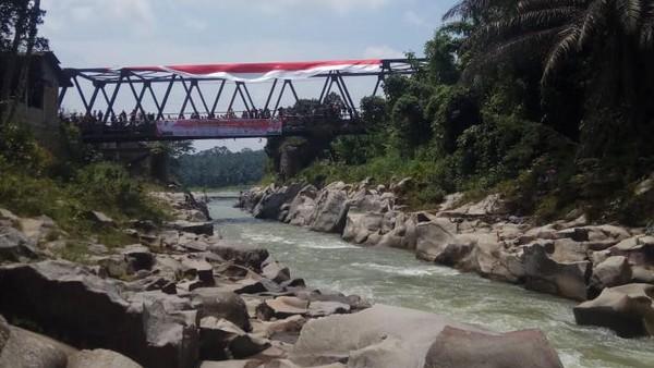 Sungai Buaya yang berarus deras ini berlokasi di di Desa Kulasar, Kecamatan Silinda, Kabupaten Serdang Bedagai (Sergai), Sumut. FAJI Sumut ingin mengenalkan sekaligus menjajal track arung jeram di aliran Sungai Buaya. (dok. FAJI Sumut)