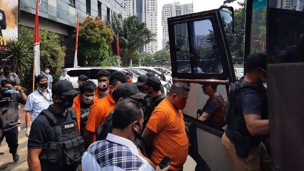 22 tersangka kasus penyerangan di Green Lake City diserahkan ke Kejaksaan Kota Tangerang, Rabu (19/8/2020).
