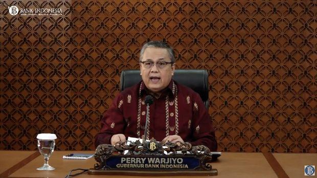 Live Streaming Pengumuman Hasil Rapat Dewan Gubernur Bulanan BI Agustus 2020 Cakupan Triwulanan.(Dok: Tangkapan layar Bank Indonesia)