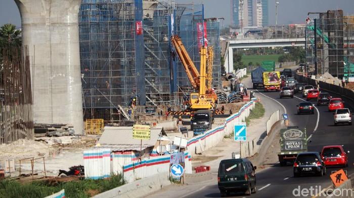 Seperti ini penampakan terkini pembangunan Kereta Cepat Jakarta Bandung (KCJB) yang berada di kawasan Bojongsoang, Kabupaten Bandung, Rabu (19/8/2020).