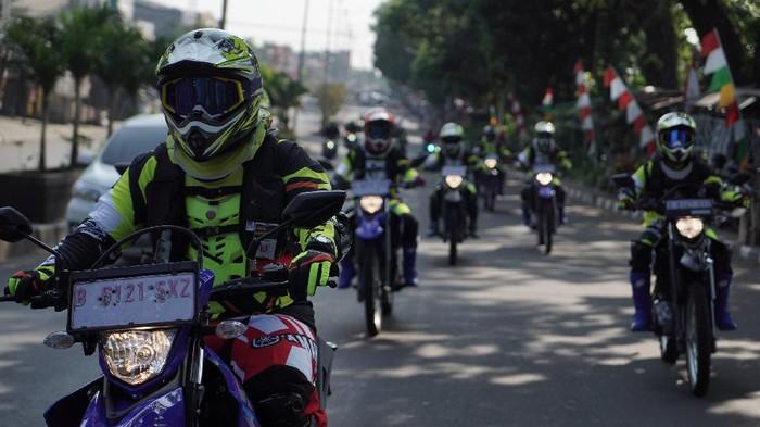 Yamaha WR155R saat melibas di jalur off road Hambalang