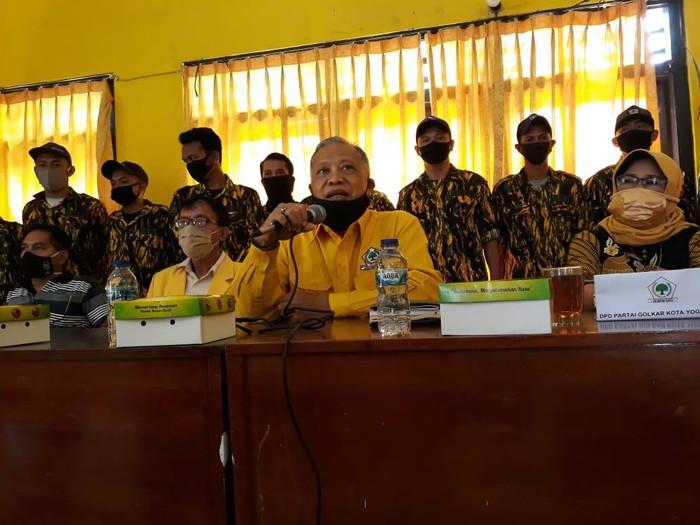 Ketua DPD II Golkar Kota Yogyakarta, Augus Nur bicara soal 12 PK yang periodesasinya habis, Kamis (20/8/2020).
