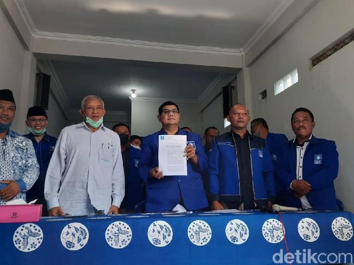 Plt Ketua DPD PAN Respati Agus Sasangka saat ditemui di Kantor DPD PAN Sleman, Kamis (20/8/2020).