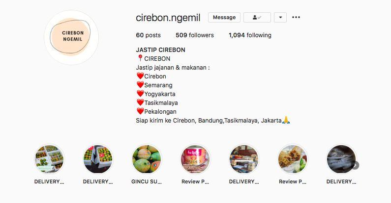 Jastip makanan: Oleh-oleh khas Cirebon