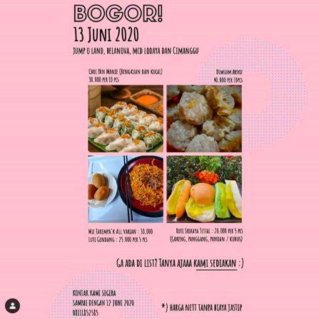 Jastip makanan: Rekomendasi Dari Halte ke Halte dibawa ke Bogor