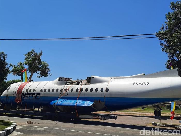 Pesawat N250 Gatotkaca sudah tiba di Museum Pusat TNI AU Dirgantara Mandala, Daerah Istimewa Yogyakarta (DIY).