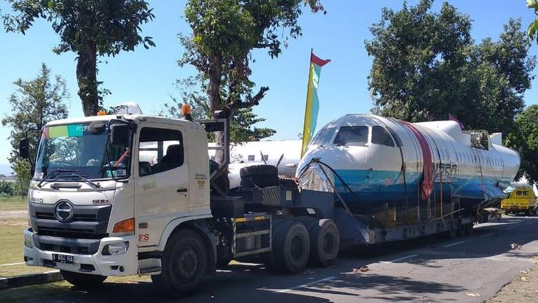 Pesawat N250 Gatotkaca sampai di Yogyakarta. (Dok TNI AU)