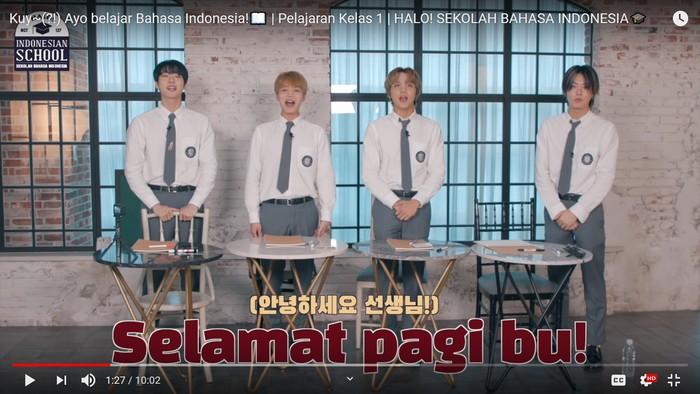 NCT 127 belajar Bahasa Indonesia