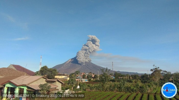Erupsi Gunung Sinabung Minggu 23 Agustus 2020 (dok. Istimewa)