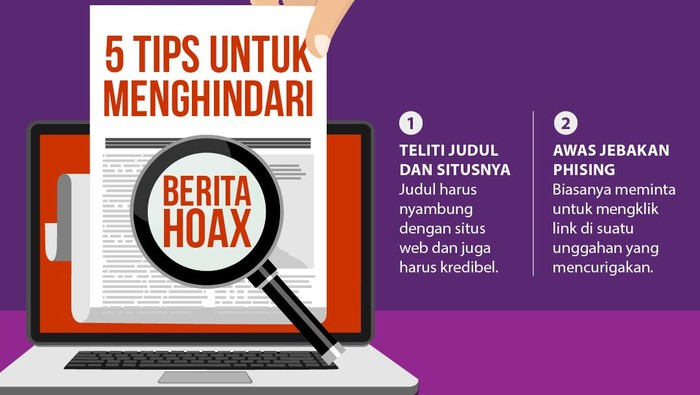 Infografis Tips Menghindari Hoax