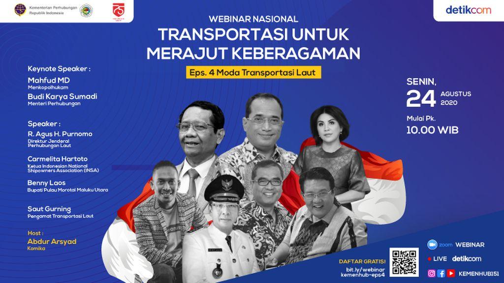 Webinar Transportasi Rajut Keberagaman, Live Hari Ini di detikcom!