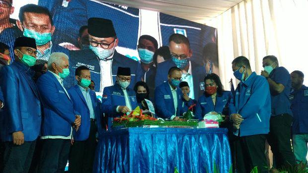 Perayaan HUT ke-22 PAN, di Kalibata, Jakarta Selatan, MInggu (23/8/2020).