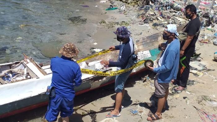 Kapal yang dipakai korban saat membawa bom ikan (dok. Istimewa).