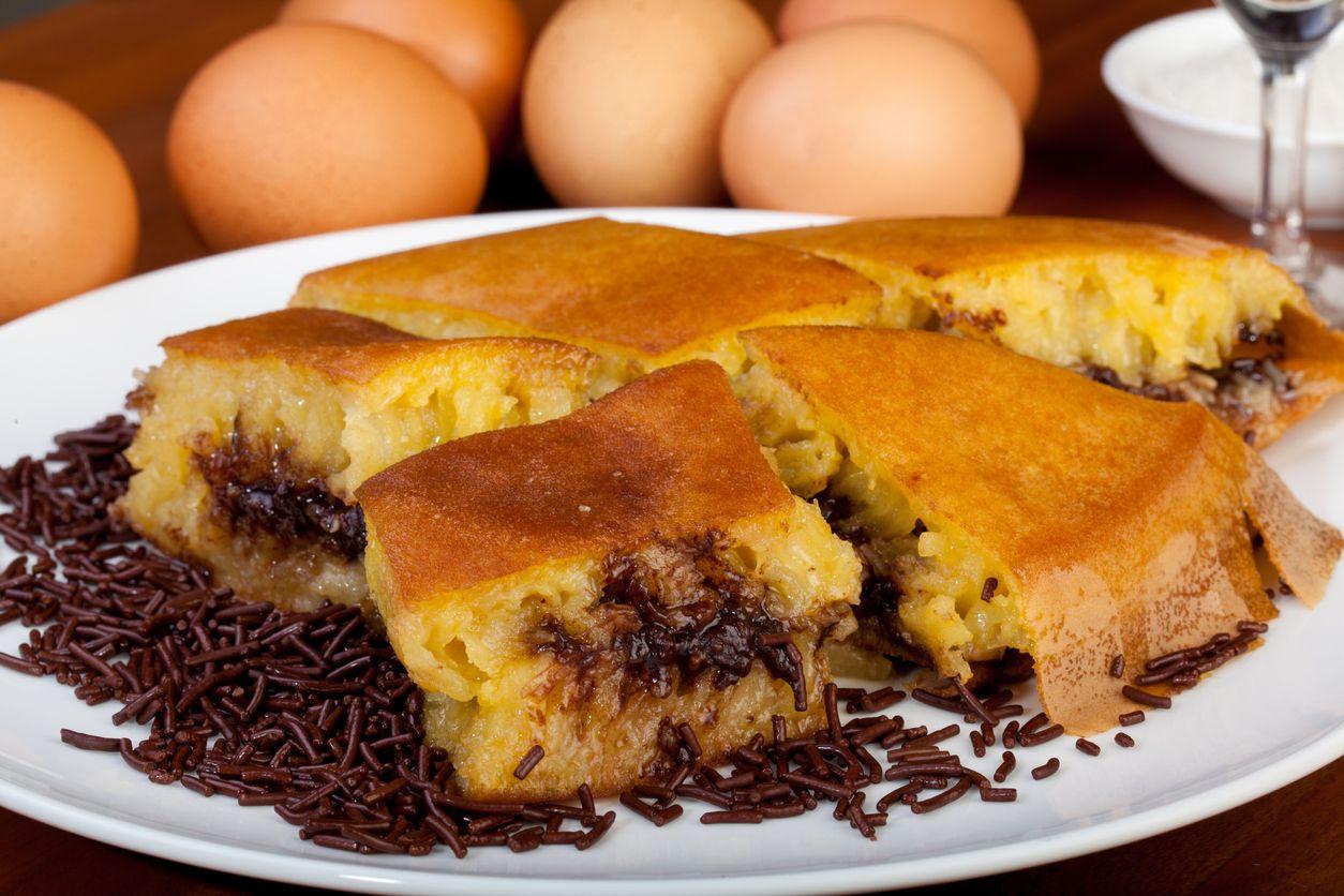 Sweet cheese and chocolate Martabak Manis Indonesian Food