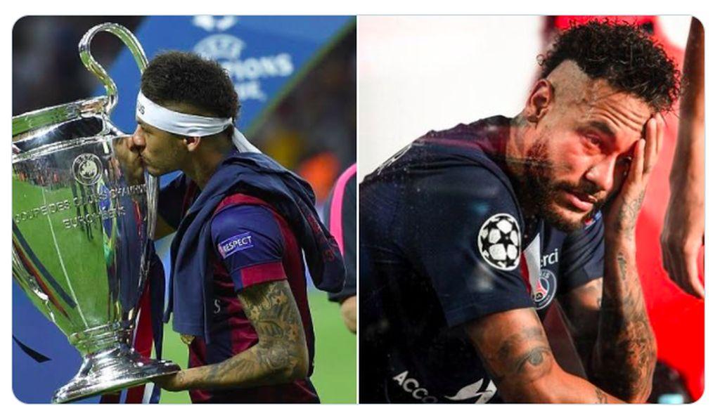 Tangisan Neymar Jadi Pujian dan Ejekan Netizen