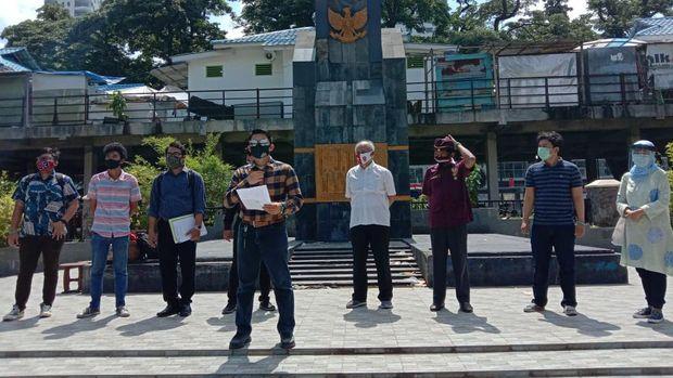 Sekelompok warga desak Pemko Medan masukkan Lapangan Merdeka Medan jadi cagar budaya (Ahmad Arfah-detikcom)