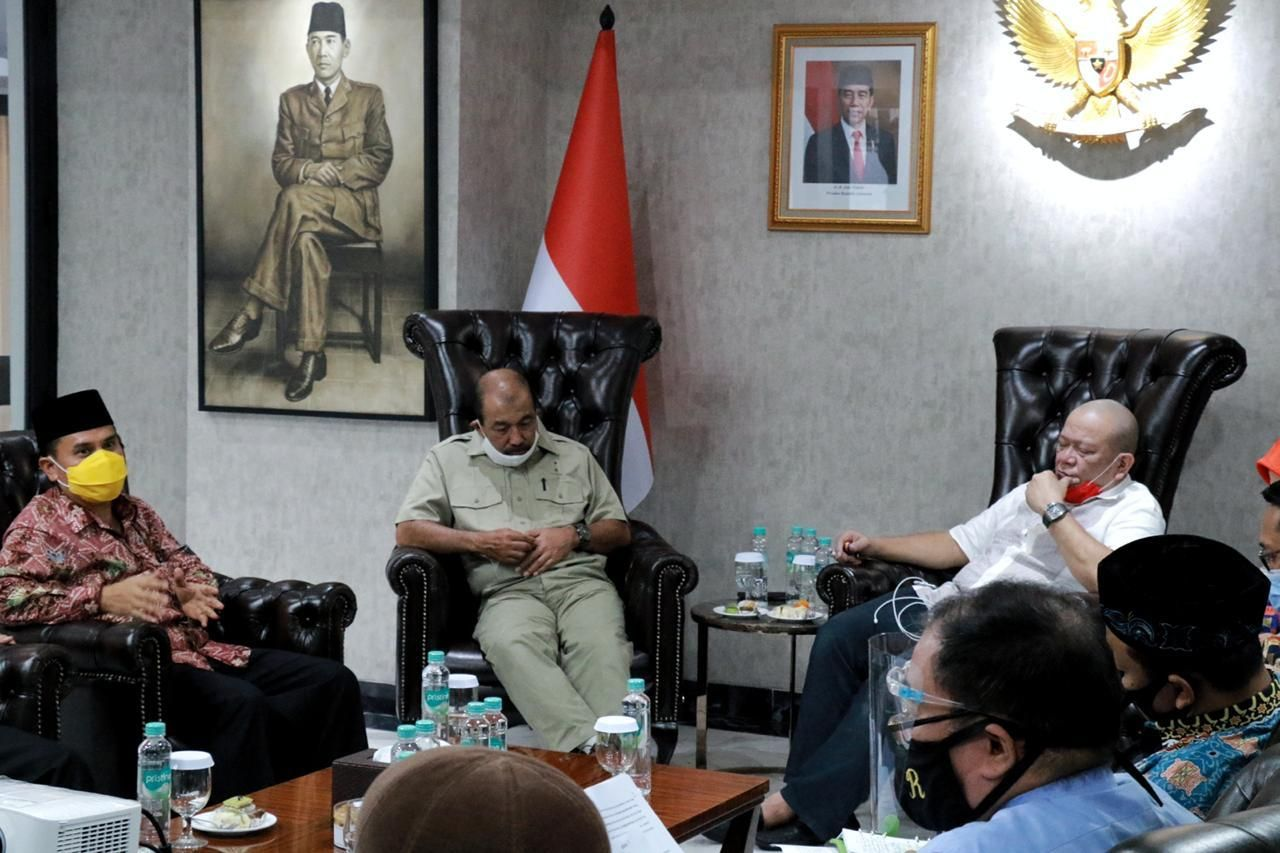 Suasana pertemuan dengan pimpinan DPD RI