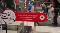 Terapkan Protokol Kesehatan, Tentrem Mall Pasang UV Sanitizer di Eskalator