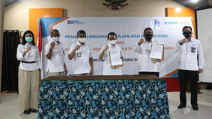 BGR Logistics menggandeng PT Indra Karya. Kerja sama ini dalam rangka mendukung Program Digitalisasi dan Pemulihan perekonomian UMKM di Indonesia.