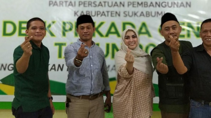 Jane Shalimar bertemu dengan pengurus PPP Sukabumi.