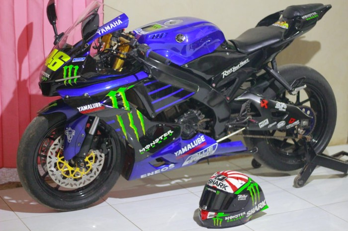 Alusss Modifikasi Vixion Ala Motor Motogp Valentino Rossi