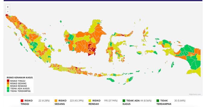 Surabaya Depok Jadi Oranye Ini Sebaran Terbaru Zona Merah Corona Di Ri