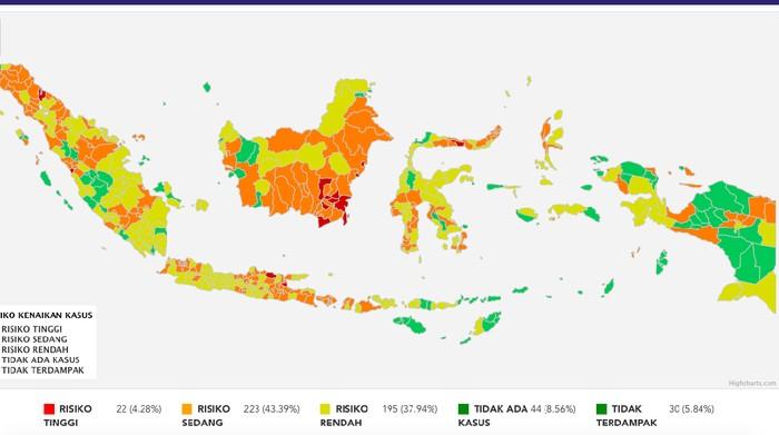 Peta Zona Risiko Corona di Indonesia
