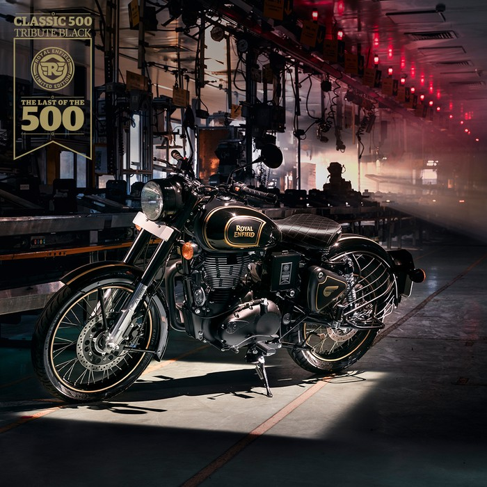 Royal Enfield Tribute Black Edition edisi akhir 500cc Royal Enfield.