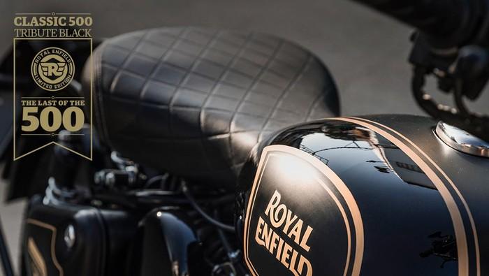 Royal Enfield Tribute Black Edition edisi akhir 500cc Royal Enfield.