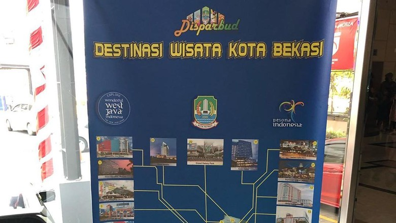 Poster destinasi wisata Bekasi.
