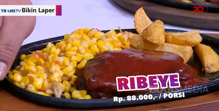 Bikin Laper TransTV makan giant ribs dan rib eye