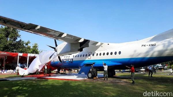 Panglima TNI Marsekal Hadi Tjahjanto menuturkan, pesawat ini ditempatkan di Museum TNI AU untuk mengabadikan karya terbaik anak bangsa. Sekaligus sebagai bentuk penghargaan terhadap BJ Habibie.