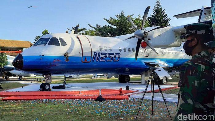 Pesawat N250 karya BJ Habibie telah selesai dirakit ulang. Kini pesawat bernama Gatotkaca itu dimonumenkan di Museum Pusat TNI AU Dirgantara Yogyakarta.