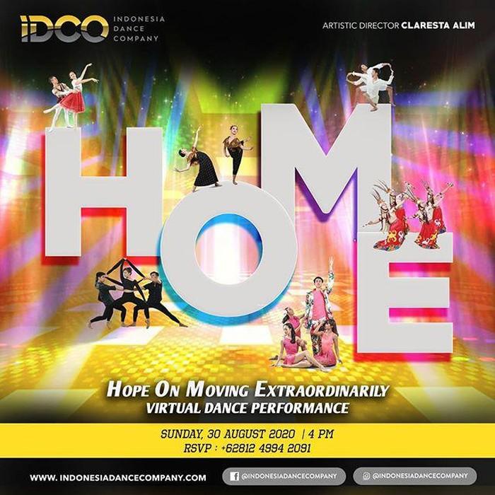 IDCO Gelar Seni Pertunjukan Balet Virtual Berjudul HOME pada 30 Agustus