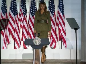 Melania Trump Bergaya Militer di Konvensi Partai Republik, Pidatonya Dipuji
