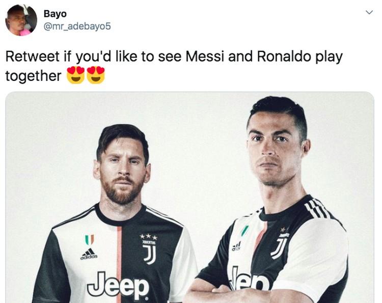 Meme Messi Ronaldo