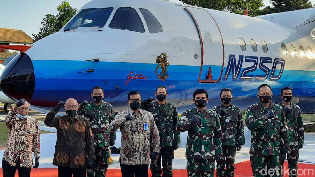 Pesawat N250 Karya Habibie Resmi Dimonumenkan di Museum TNI AU Yogya
