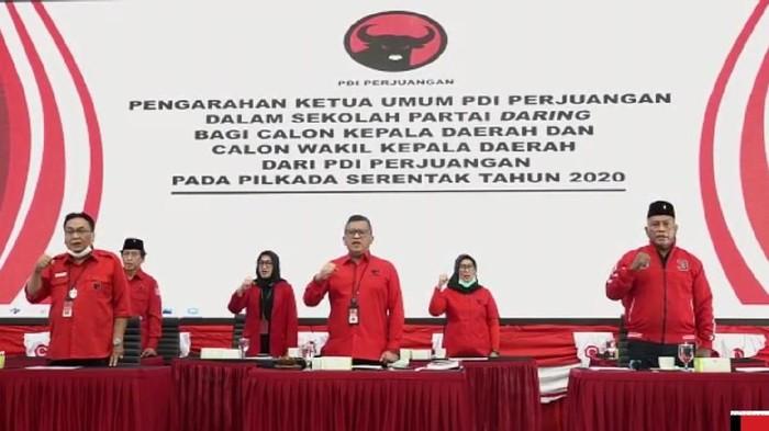 Sekolah partai calon kepala daerah PDIP virtual