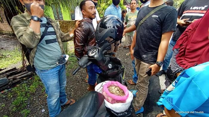 Warga Agam ditangkap karena memperjualbelikan sisik trenggiling (dok BKSDA Sumbar)