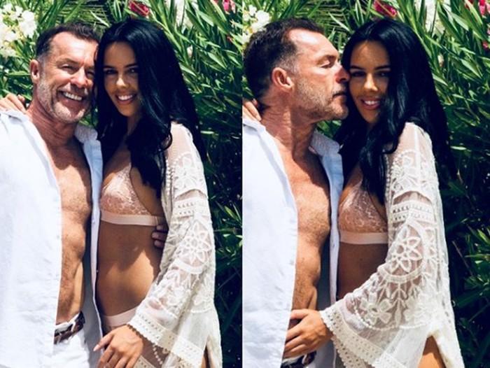 Chris Quinten dan kekasihnya yang beda usia 41 tahun.